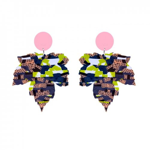 EARRINGS HOJA COLLAGE