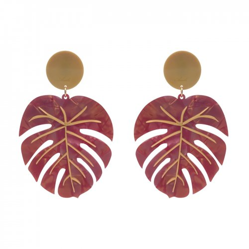 EARRINGS HOJA VENA