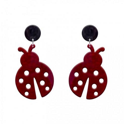 pendientes ladybird rojo a la venta en anabi.online