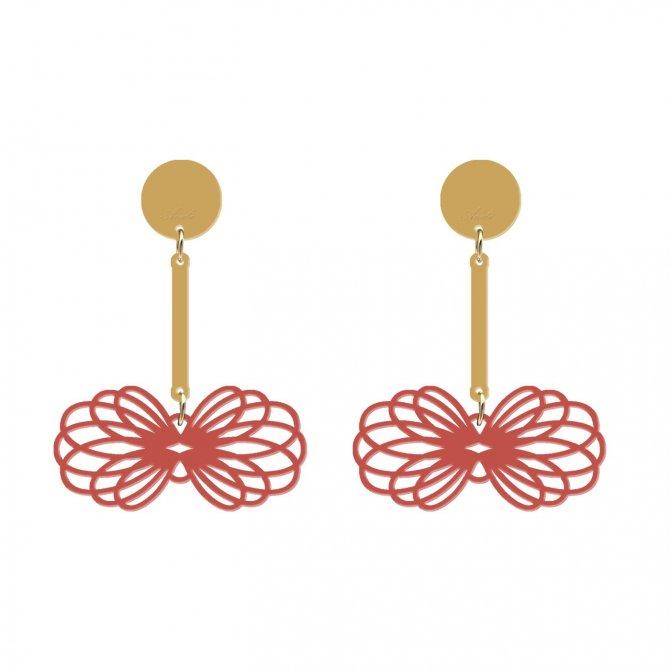 pendientes gemel coral a la venta en anabi.online