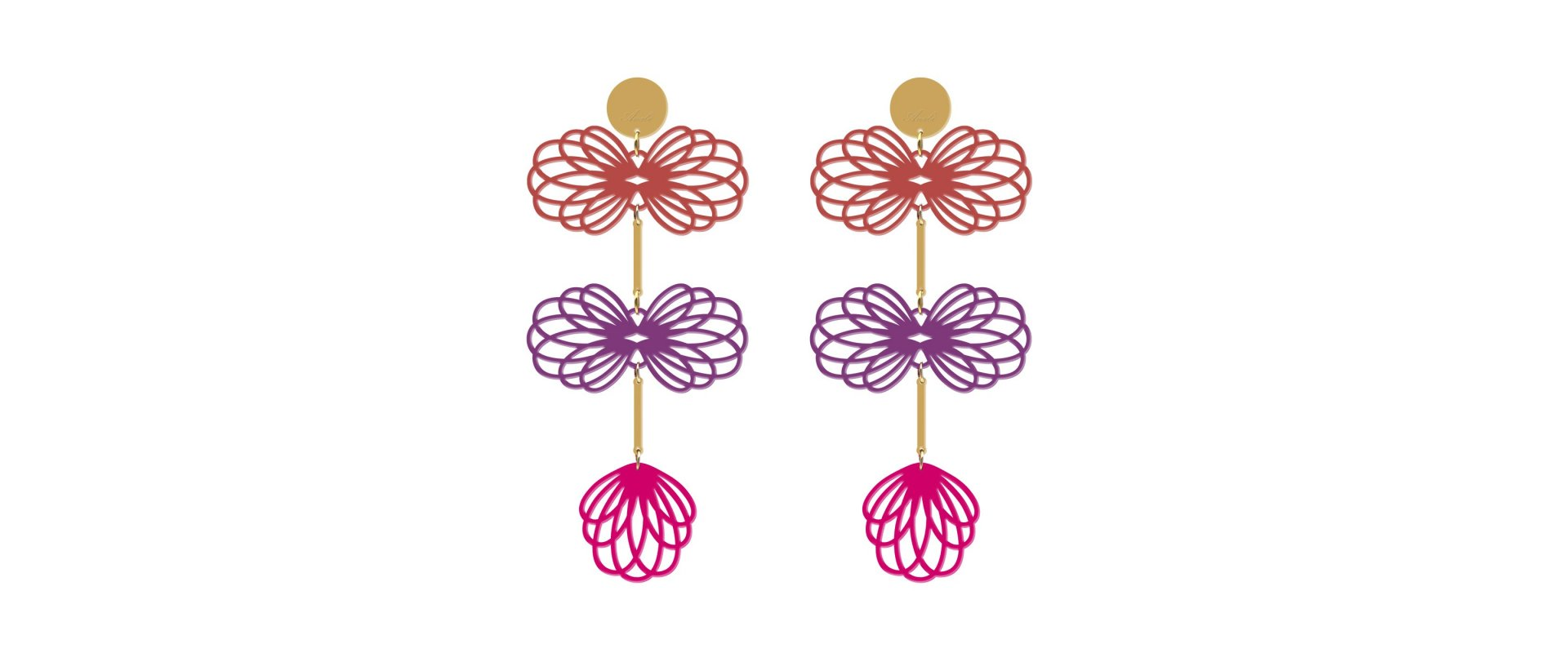 pendientes long gemelier fucsia a la venta en anabi.online