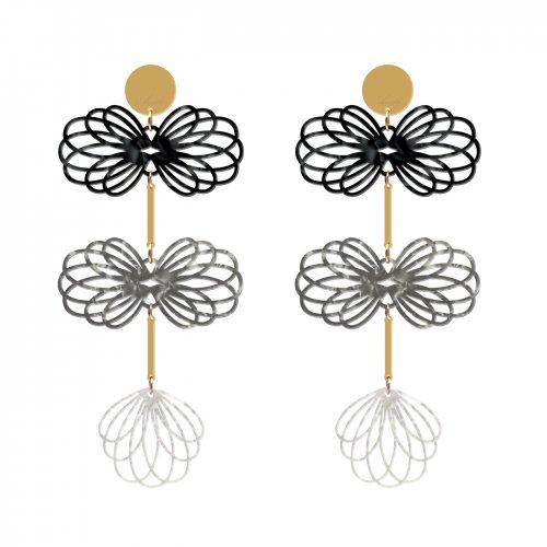 pendientes long gemelier gris y blanco a la venta en anabi.online