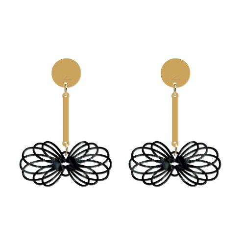 pendientes gemel negro nacarado a la venta en anabi.online
