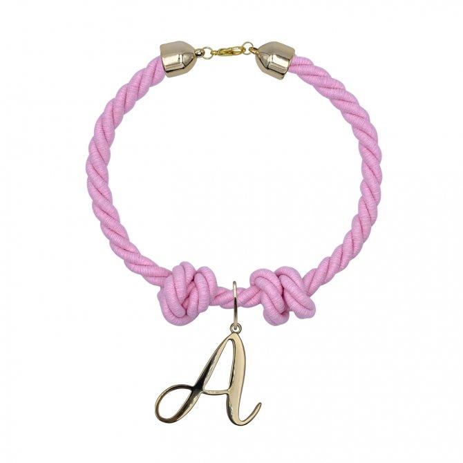 Pink chocker alphabet letter A in online store anabi.online