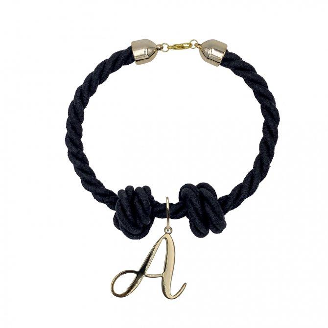 Black chocker alphabet letter A in online store anabi.online