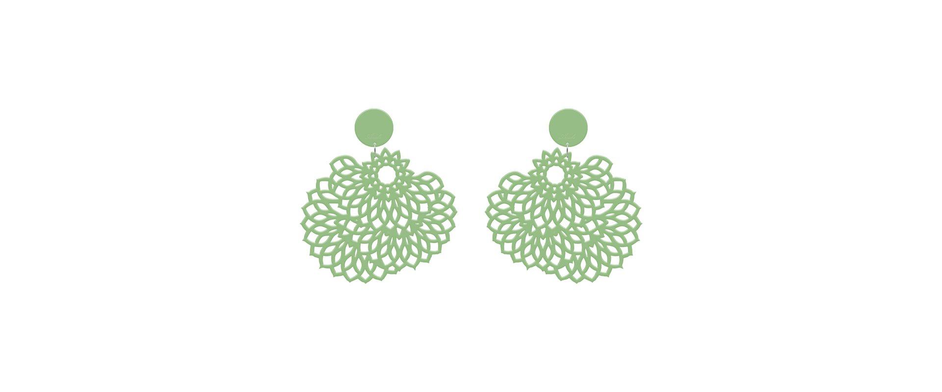 Green earrings Van Gogh in online store anabi.online