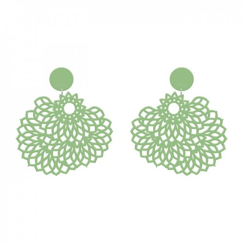 Green earrings Van Gogh in online store anabi.online
