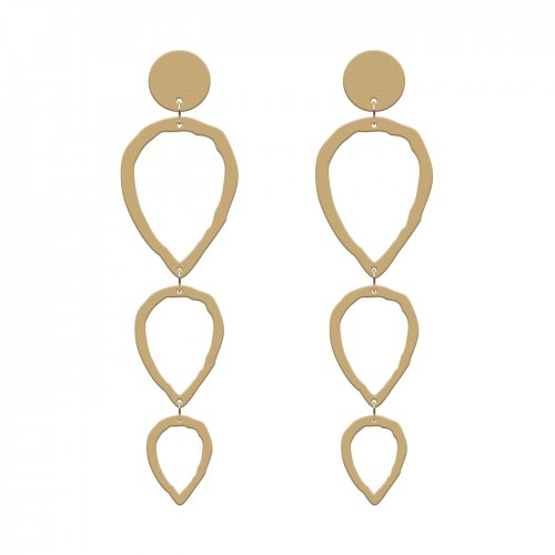 Gold earrings clean in online store anabi.online