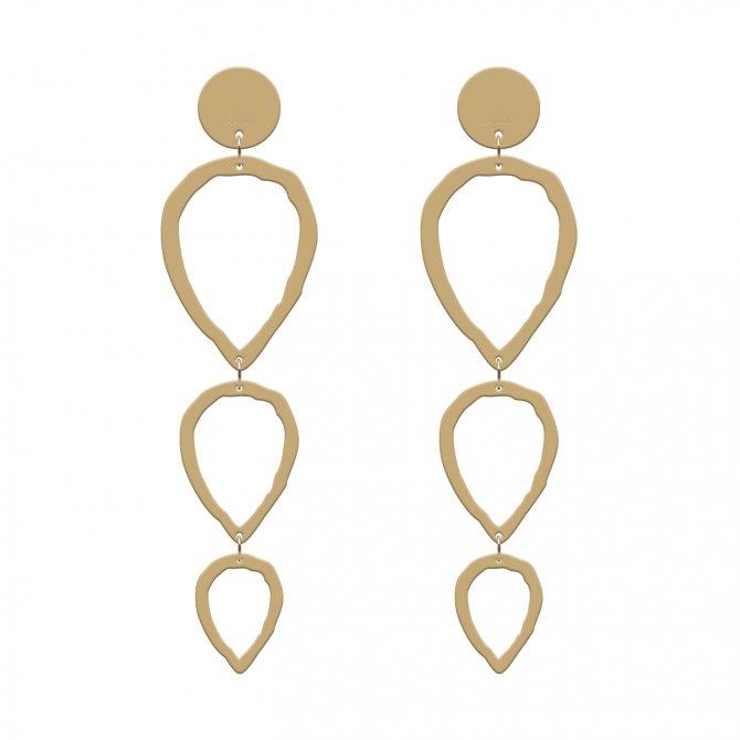 Gold earrings clean in online store anabi.online