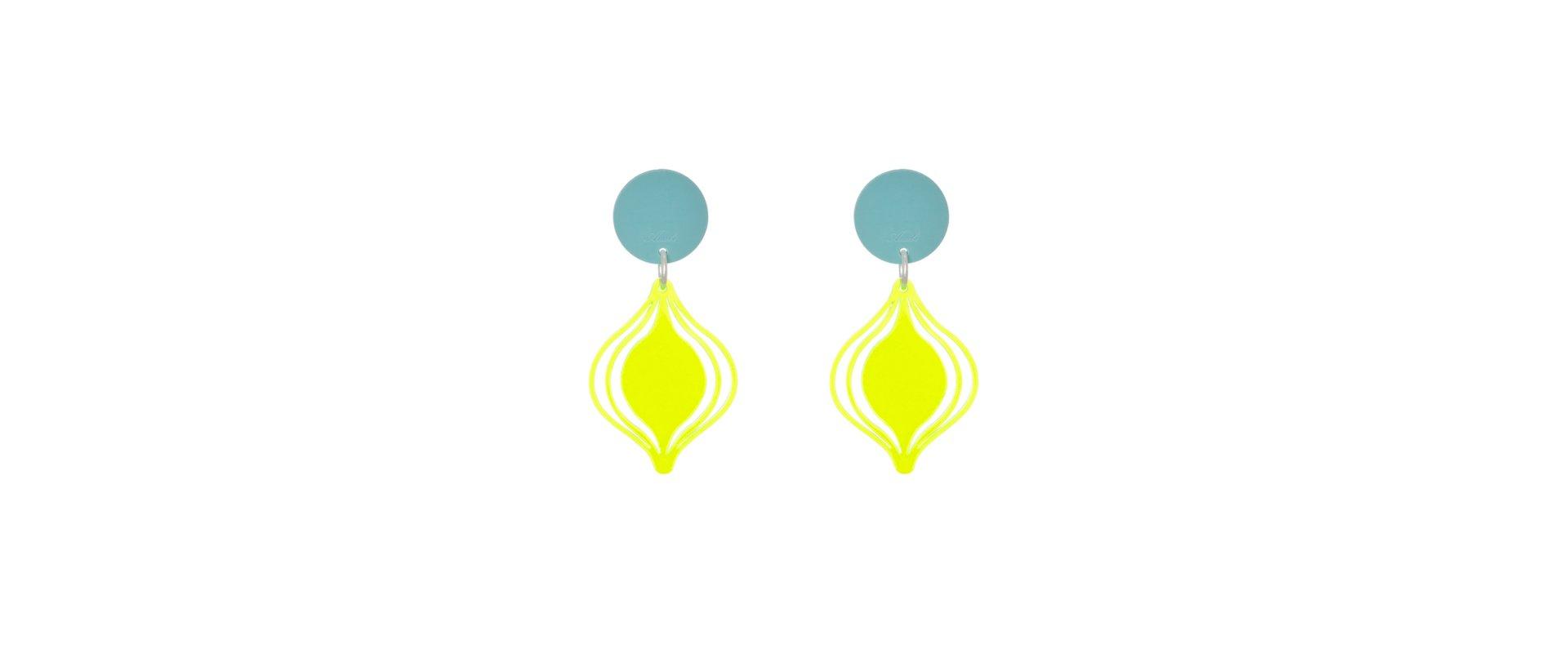 Fluor earrings farol mini in online store anabi.online
