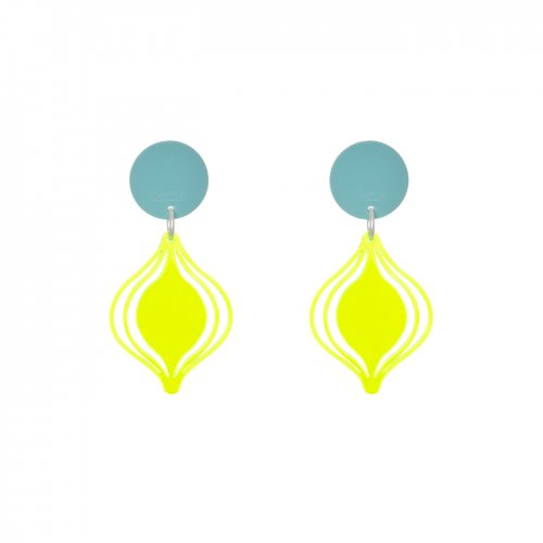 Fluor earrings farol mini in online store anabi.online