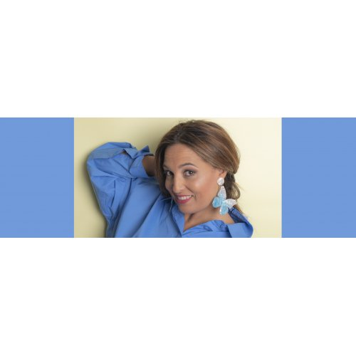 Image blue earrings mariposa in online store anabi.online