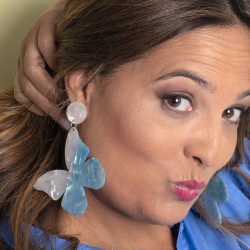 Detail blue earrings mariposa in online store anabi.online