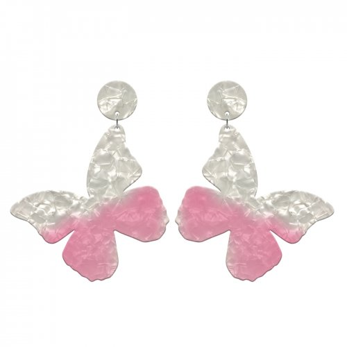 Pink earrings mariposa in online store anabi.online
