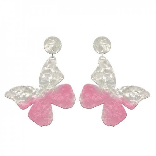 Pendientes mariposa rosa a la venta en anabi.online