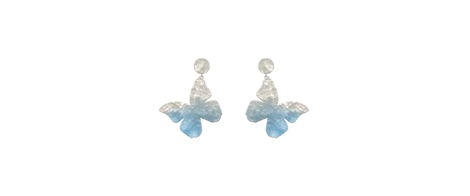 Blue earrings mariposa medium in online store anabi.online