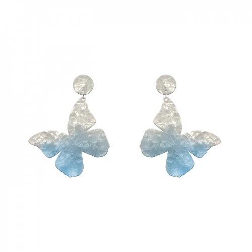 Blue earrings mariposa medium in online store anabi.online