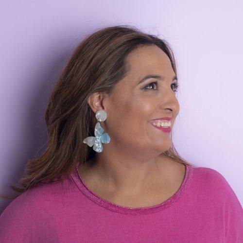 Detail blue earrings mariposa medium in online store anabi.online