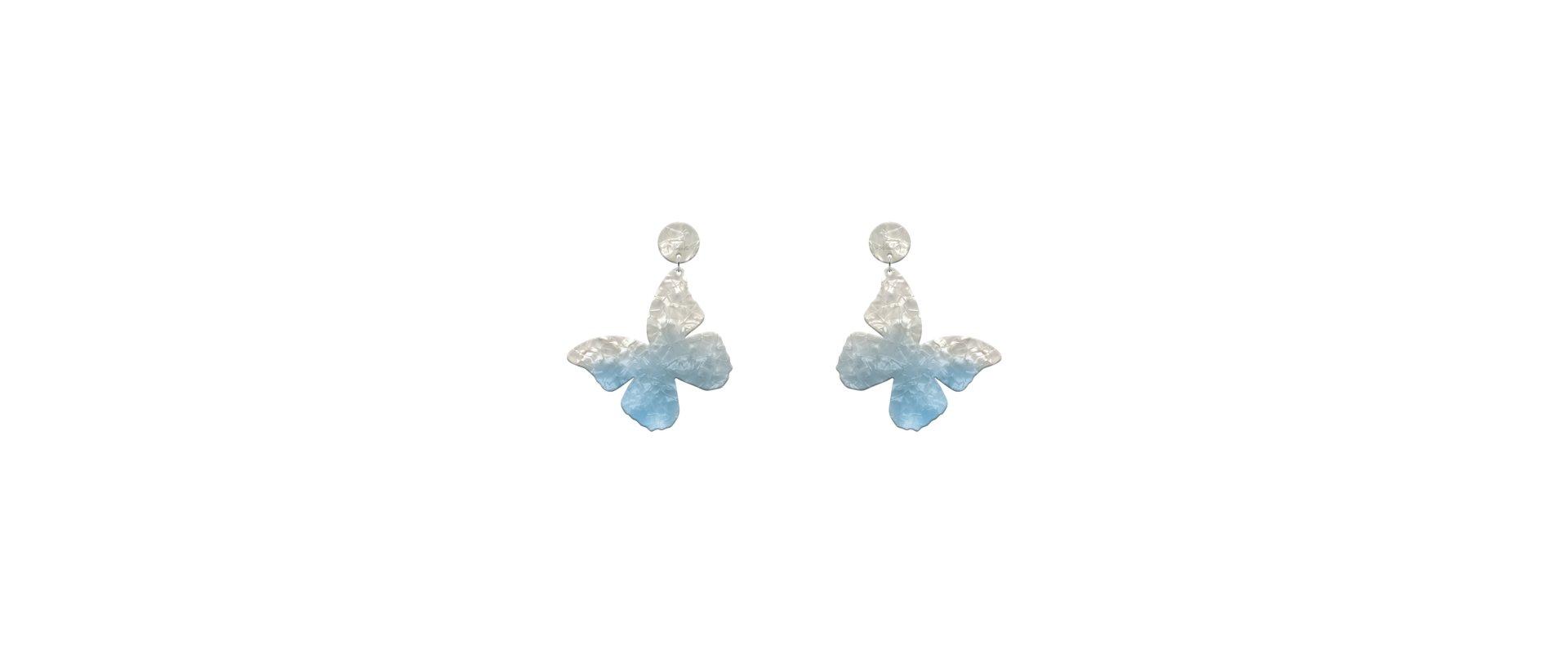 Pendientes mariposa azul mini a la venta en anabi.online