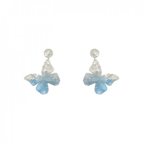 Blue earrings mariposa mini in online store anabi.online