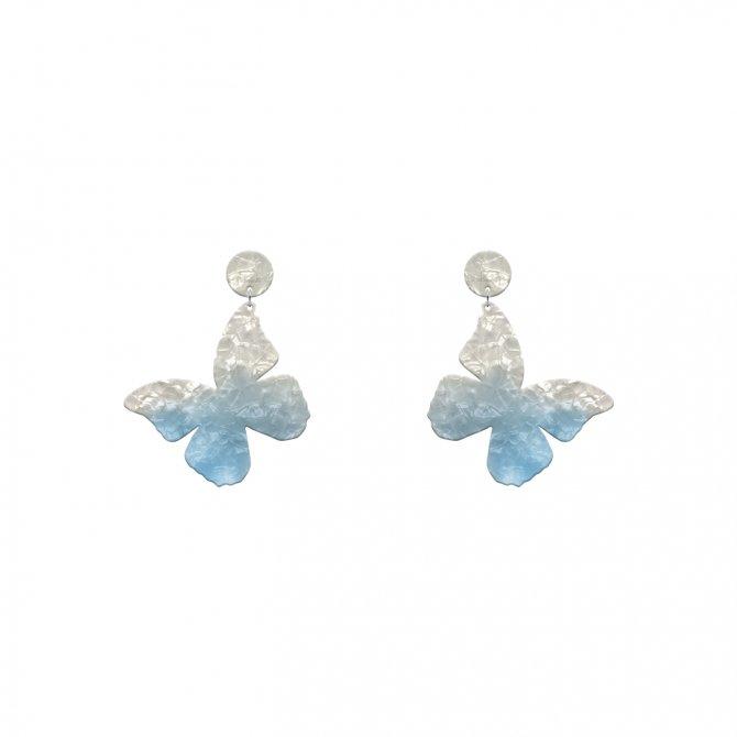 Blue earrings mariposa mini in online store anabi.online
