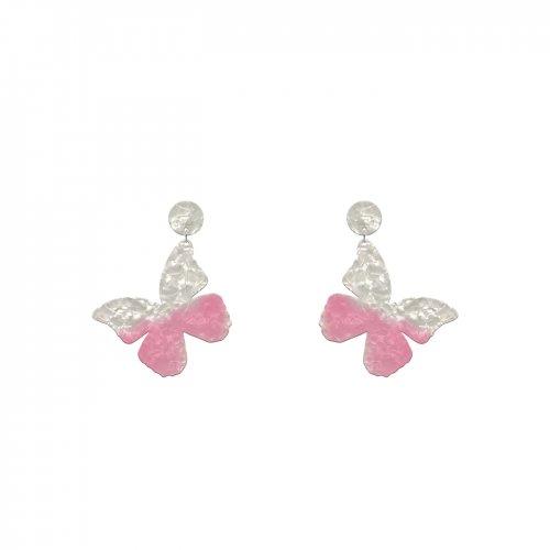 Pendientes mariposa rosa mini a la venta en anabi.online