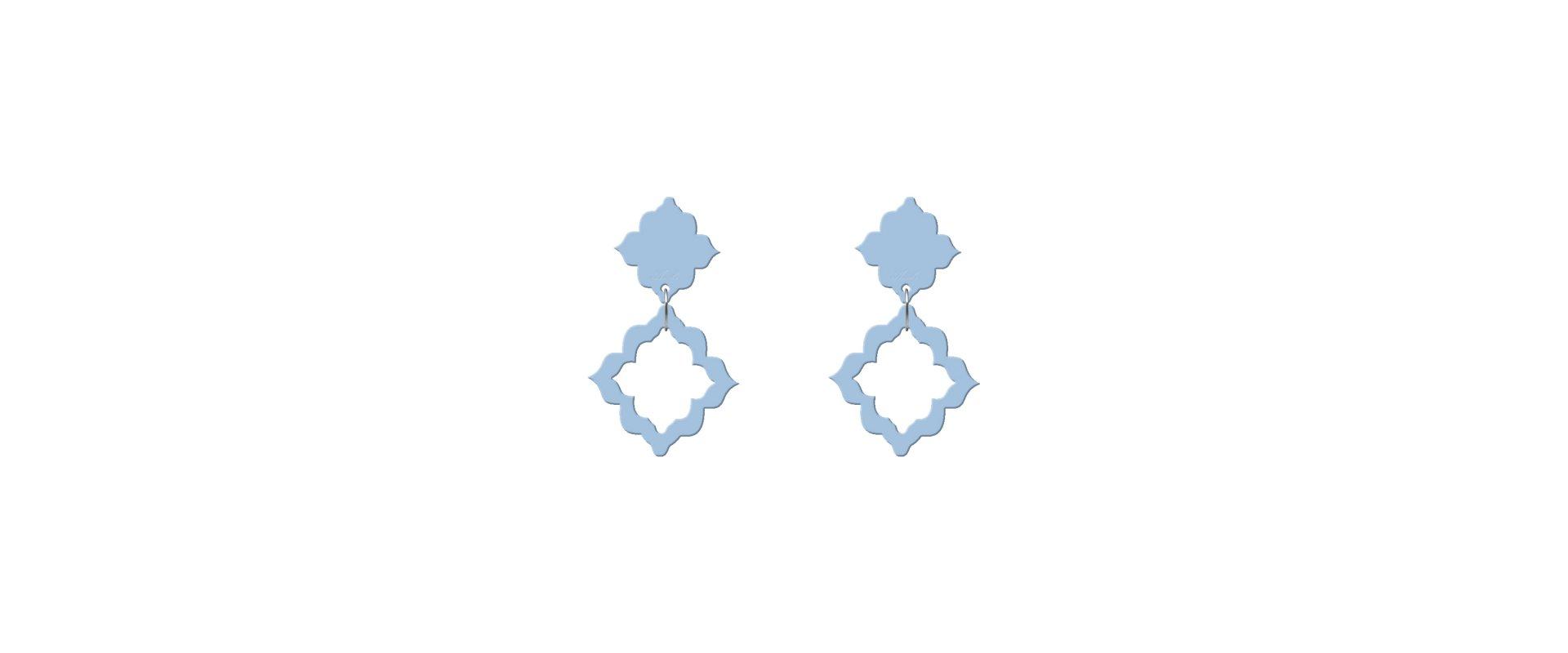 Pendientes alhambra azul bebé mini a la venta en anabi.online