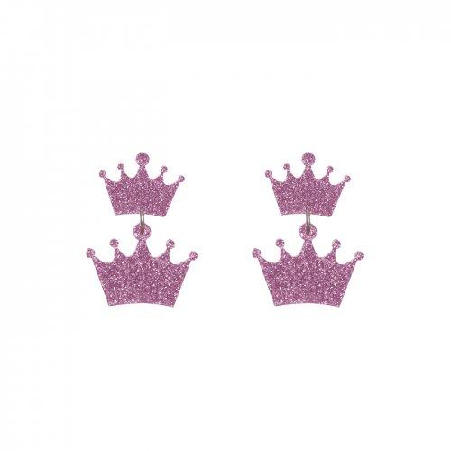 Pendientes cascada de reinas glitter rosa mini a la venta en anabi.online