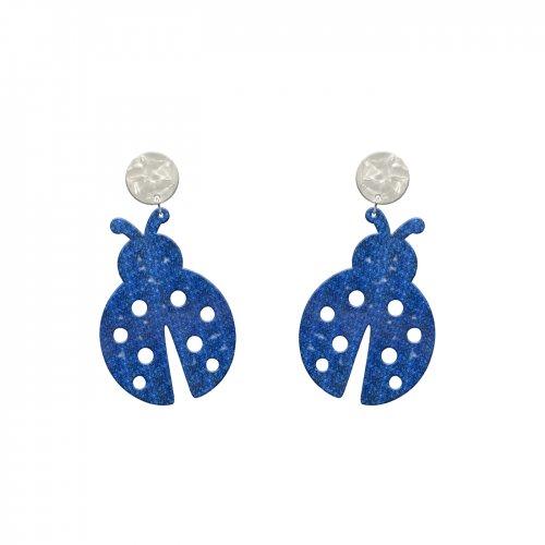 Pendientes ladybird lapislázuli mini a la venta en anabi.online