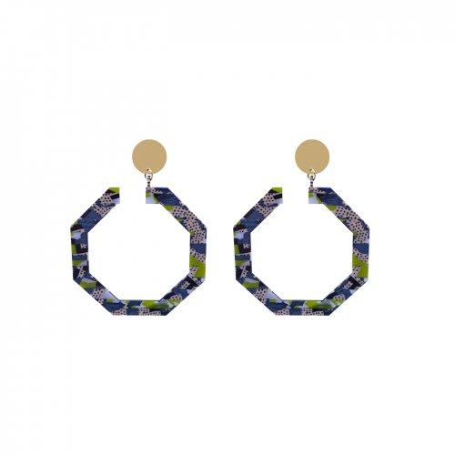 Pendientes octógono collage mini a la venta en anabi.online