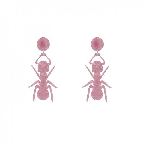 Pendientes hormiga rosa nacarado mini a la venta en anabi.online