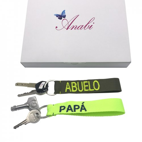 Detail men´s personalised key rings designed by ANABI, you can buy it on online store www.anabi.online