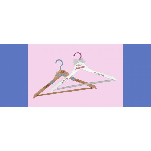 Image blue color communion dress hanger designed by ANABI in online store www.anabi.online