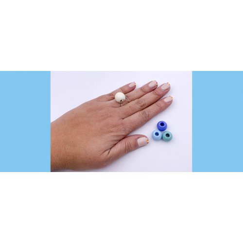 IMAGE PACK INTERCAMBIABLE RING AND 3 MURANO BALLS c in online store anabi.online