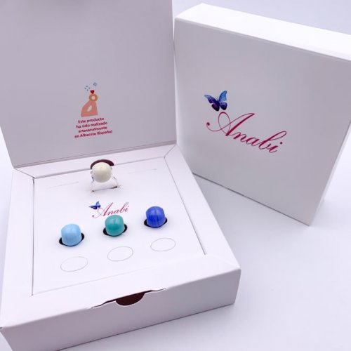DETAIL PACK INTERCAMBIABLE RING AND 3 MURANO BALLS c in online store anabi.online