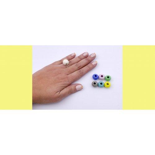 imagen PACK a ANILLO INTERCAMBIABLE 6 BOLAS cristal MURANO - a la venta en anabi.online