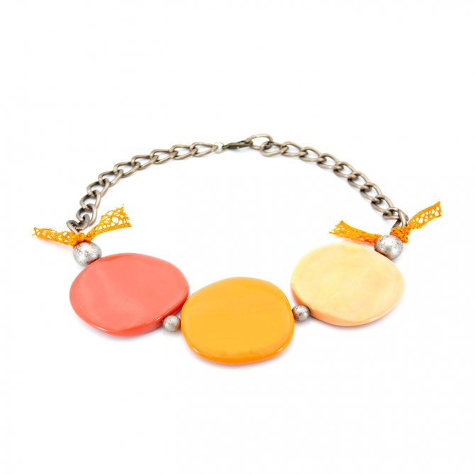 CHOKER TRIO DE ASES ORANGE
