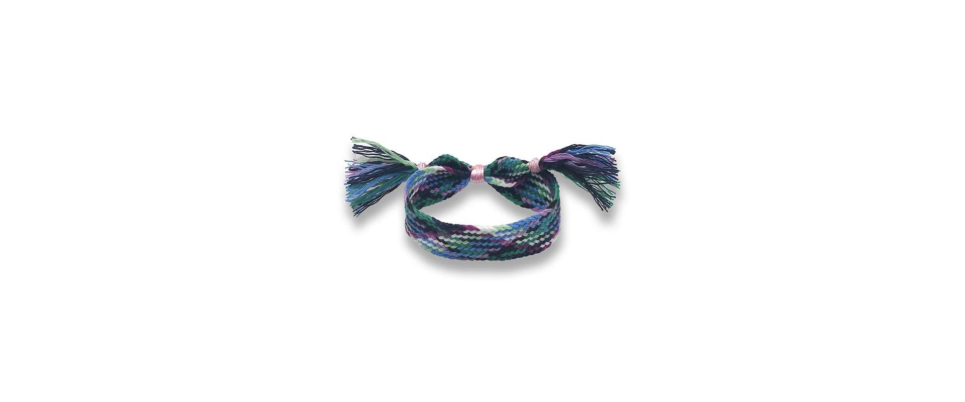 Pulsera wayuu azul a la venta en anabi.online