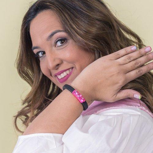 Detail Fuchsia bracelet Swarovski in online store anabi.online