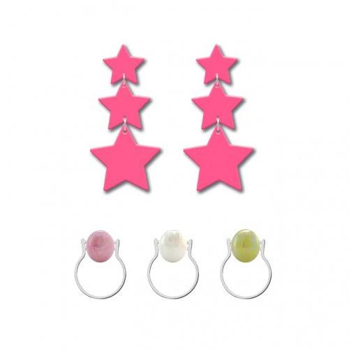 Pack estrella rosa fluor a la venta en anabi.online