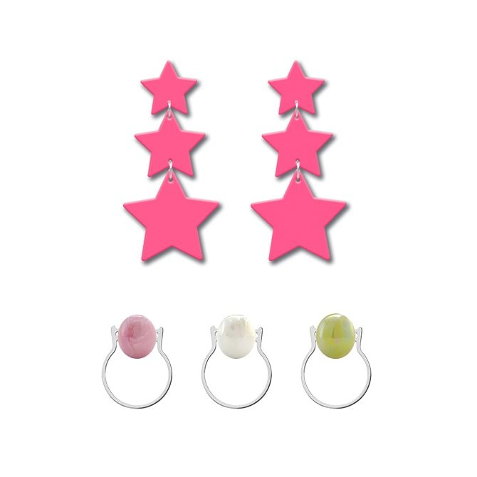 Translucent pink Star Pack in online store anabi.online