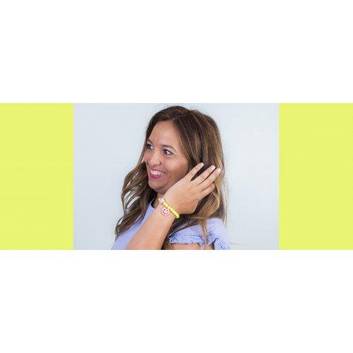 Imagen Pulsera sonrisa  amarillo flúor a la venta en anabi.online