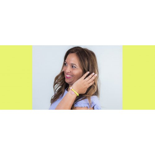 Image Fluorescent yellow smile bracelet  in online store anabi.online