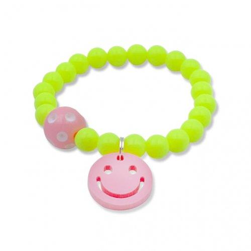 Fluorescent yellow smile bracelet  in online store anabi.online