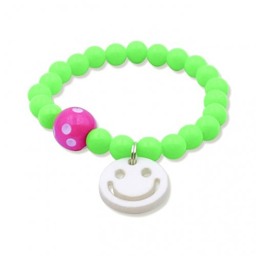Fluorescent green smile bracelet  in online store anabi.online
