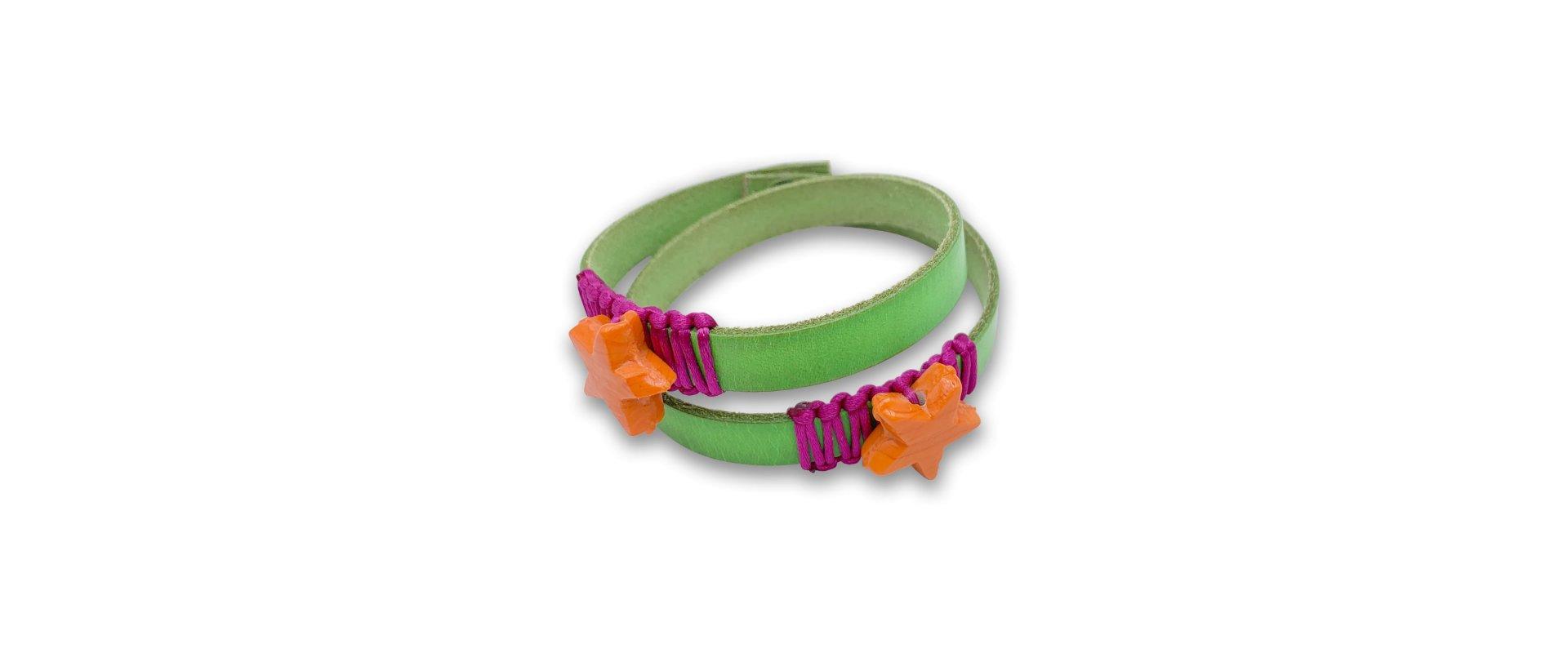 Green spiral bracelet in online store anabi.online
