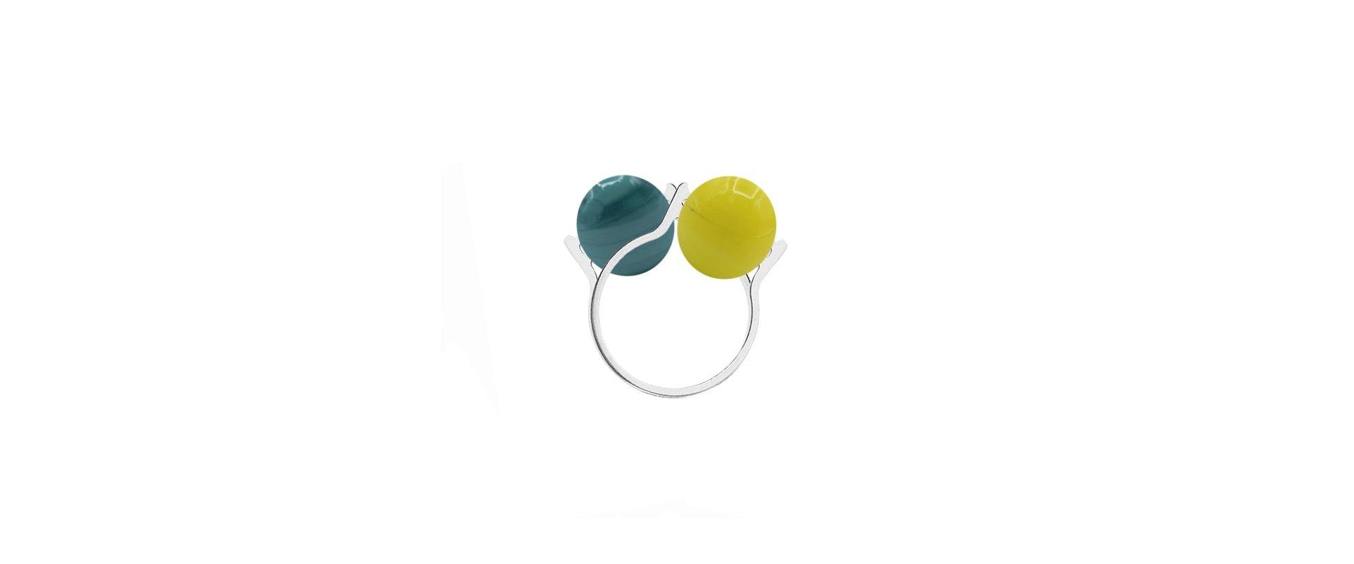 Double Murano ball interchangeable 2 rings in online store anabi.online