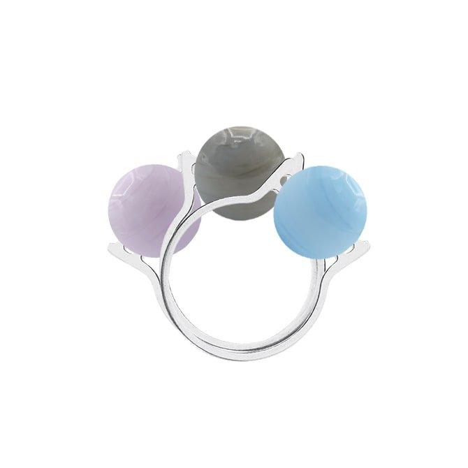 Triple Murano ball interchangeable 2 rings in online store anabi.online