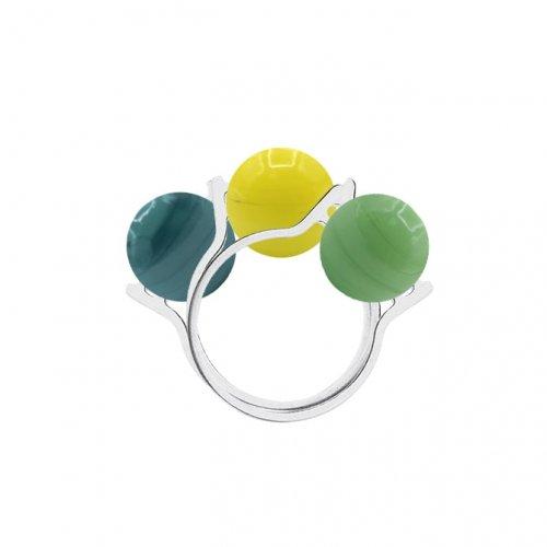 3 anillos bolas Murano a la venta en anabi.online