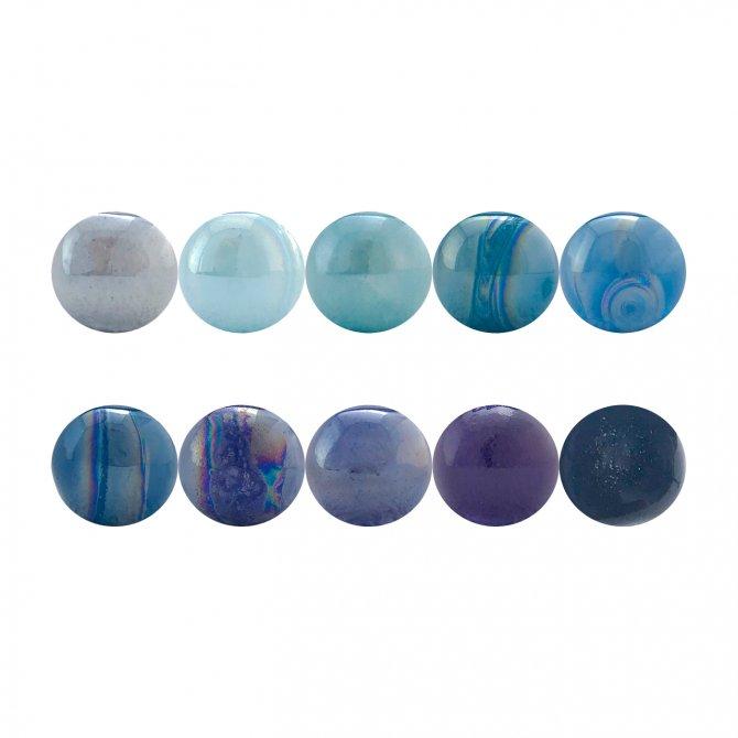 PACK 10 blue standard balls
